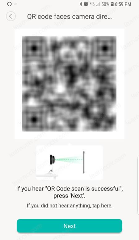 Yi Home Camera QR code
