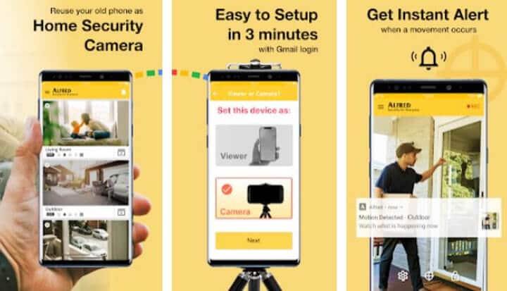 Alfred app para cámara de seguridad