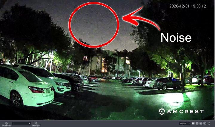 Ruido en la Amcrest Night Color Camera