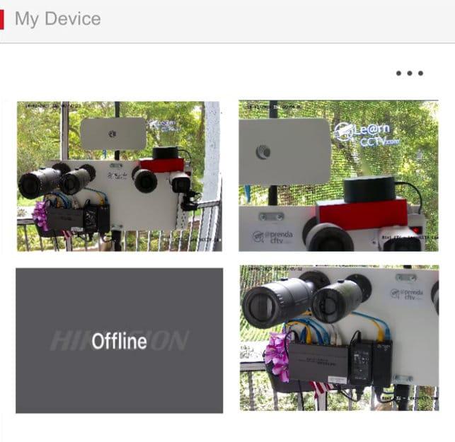 Hik-connect no muestra todas las cámaras