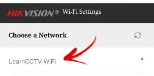 Elija la red para conectar