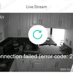 Wyze Cam Error code 20