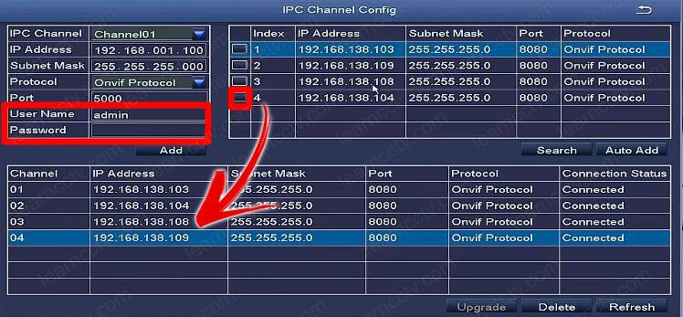 Zosi IPC Channel Config encuentra las cámaras