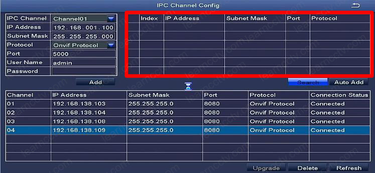 Zosi IPC Channel Config